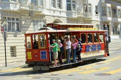 Teleférico en San Francisco, California Imagen de archivo