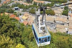 Teleférico en San Marino foto de archivo