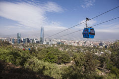 Teleférico en Santiago de Chile Imágenes de archivo libres de regalías