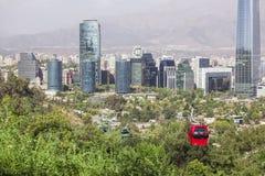 Teleférico en Santiago de Chile Fotos de archivo