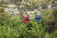 Teleférico en Santiago de Chile Imagen de archivo