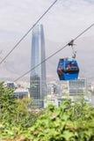 Teleférico en Santiago de Chile Imagen de archivo libre de regalías