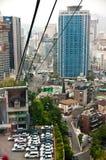 Teleférico en Seul Imagen de archivo libre de regalías