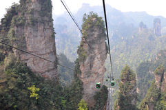 Teleférico en Zhangjiajie fotografía de archivo