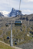 Teleférico expreso de Matterhorn Fotos de archivo