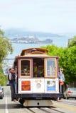 Teleférico famoso em uma rua íngreme Fotografia de Stock Royalty Free