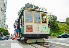 Teleférico famoso em uma rua íngreme Foto de Stock Royalty Free