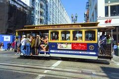Teleférico famoso en San Francisco Imágenes de archivo libres de regalías