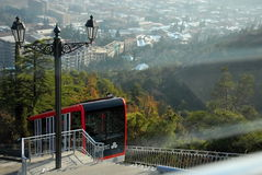 Teleférico na montanha Imagem de Stock Royalty Free