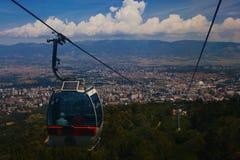 Teleférico na montanha de Vodno Imagem de Stock Royalty Free