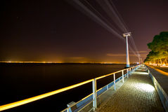 Teleférico na noite Fotos de Stock