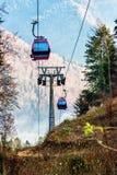 Teleférico nas madeiras Fotografia de Stock Royalty Free