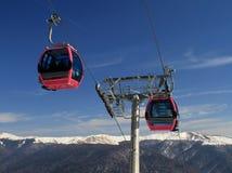 Teleférico nas montanhas Fotos de Stock