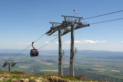 Teleférico nas montanhas Tatras alto Imagem de Stock