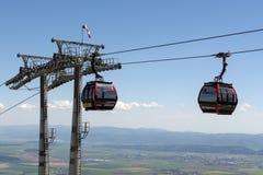 Teleférico nas montanhas Tatras alto Fotos de Stock
