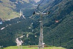 Teleférico no Monte Elbrus Fotos de Stock
