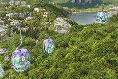 Teleférico no parque do oceano, Hong Kong Imagem de Stock Royalty Free