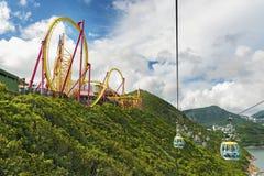 Teleférico no parque do oceano, Hong Kong Imagens de Stock Royalty Free