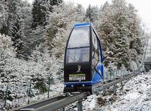 Teleférico no salto de esqui Muehlenkopfschanze em Willingen, Alemanha Imagem de Stock