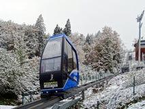 Teleférico no salto de esqui Muehlenkopfschanze em Willingen, Alemanha Imagem de Stock Royalty Free