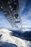 Teleférico nos alpes Imagem de Stock Royalty Free
