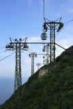 Teleférico, parque Hong-Kong del océano Foto de archivo libre de regalías
