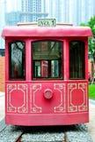 Teleférico rojo fotografía de archivo