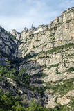 Teleférico a Santa Maria de Montserrat Abbey en las montañas de Montserrat Imágenes de archivo libres de regalías