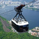 Teleférico sobre Rio de Janeiro Imagen de archivo libre de regalías