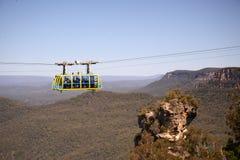 Teleférico sobre un barranco en Australia Imagen de archivo libre de regalías