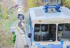 Teleférico urbano em Kiev, Ucrânia imagens de stock royalty free