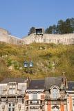 Teleféricos da citadela de Dinant Foto de Stock