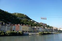 Teleféricos de Grenoble Imagens de Stock