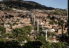 Teleféricos em Medellin imagem de stock