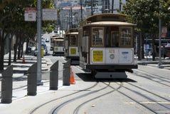Teleféricos en San Francisco Foto de archivo libre de regalías