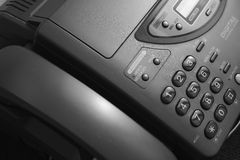 Telefax and telephone keypad Royalty Free Stock Image