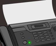 telefaxmeddelande Arkivbild