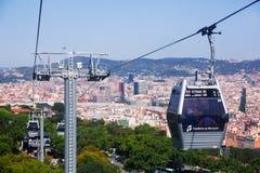 Teleferic de Montjuic in Barcelona, Spanien lizenzfreie stockfotos