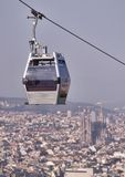 Teleferic of Montjuic Royalty Free Stock Images