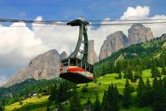 Teleferica alpina immagini stock