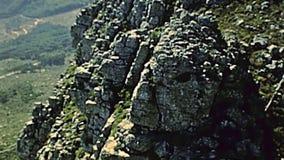 Teleferica della montagna della Tabella di Cape Town video d archivio