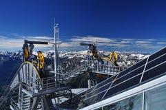 Teleferica di Skyway a Mont Blanc, alpi, Italia Immagine Stock