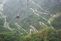 Teleferica di Wulingyuan del Hunan Fotografia Stock