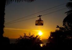 Teleferica, tramonto, fotografie stock libere da diritti