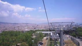 Teleferico της Βαρκελώνης, Ισπανία απόθεμα βίντεο