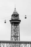 Teleferico Montjuic e cabines em Barcelona Imagem de Stock Royalty Free