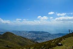 Teleferiqo, cabina telefonica, Quito immagini stock libere da diritti