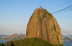 Teleferique, lift to Sugarloaf Mountain in Rio de Janeiro Royalty Free Stock Image