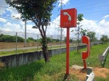 Telefonów w sprawie nagłego wypadku punkty w autostradzie dla przeciwawaryjnej pomocy zdjęcia royalty free