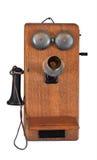 Telefon 1900's auf Weiß lizenzfreie stockfotos